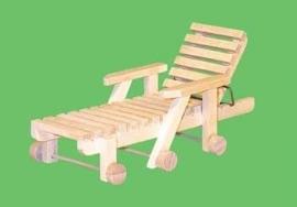 00963 Tuinligstoel, blankhout. (11)