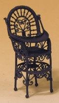 02618 Kinderstoel, bruin metaal (O)