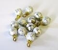 01286 Kerstballen zilver, per 12 (AR)