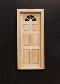 02658 Buitendeur met raam, blankhout. (B)