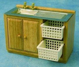 Keukenblok met 2 korven, 42-1972