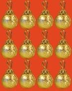 01478 Kerstballen goud, per 12. (AR)