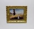 02492 Schilderij landschap met vrouw (AP)