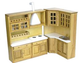 01824 2-delige eiken keukenset (3)