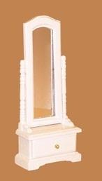 01175 Staande spiegel, wit. (11)