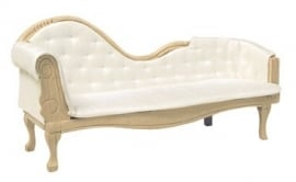 01383 Chaise Longue, blankhout. (50)