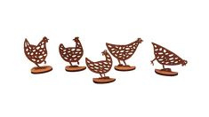 A214  Set van 5 kippen.