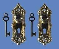 01055 Deurplaat met sleutel, 2 sets, EM1139 uitverkocht
