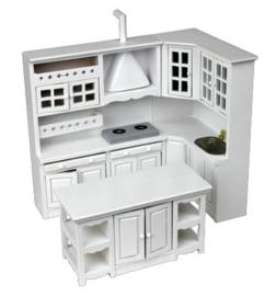 00736 Witte keukenset, 3-delig (3)
