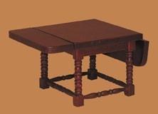 03308 Eetkamertafel, klapbaar, mahonie. (2)