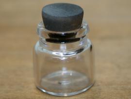00489 Fles met stop, glas. (AN)