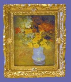 01812 Schilderij, bloemen in vaas. (AP)