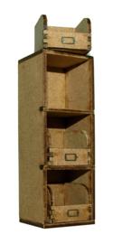 A130 Voorraadkast met 3 voorraadbakken