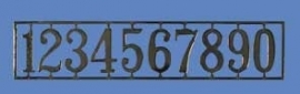 01275 Houseworks huisnummers, messing. (AA)