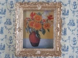02705 Schilderij vaas met zonnebloemen (AP)