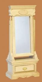00078 Spiegel met lade, blankhout. (11)