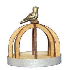 A201 Ronde tuinmand met vogel