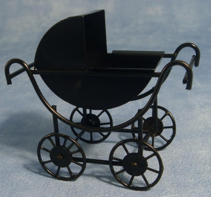 01505 Kinderwagen, zwart. (27)