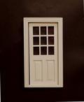 02318 Witte deur met ruitjes (B)