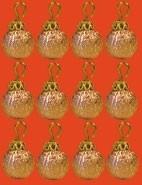 01477 Kerstballen roze, per 12. (AR)