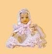 01418 Porseleine pop, baby roze. (21)