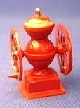 01460 Oude Engelse koffiemolen, rood. (AN)