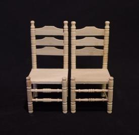 02271 Blankhouten stoel, per 2 (I)
