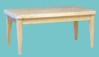 00836 Keukentafel, blankhout. (U)