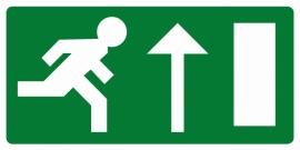 Artikelnummer RE2–V1.61 sticker Vluchtweg rechtdoor (afm. 30x15cm) per st. vanaf 10 st.