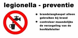 Artikelnummer TB–1700.E6 sticker Legionella preventie (afm. 12x6cm) per st. vanaf 20 st.