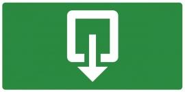 Artikelnummer RE2–V1.89 sticker Uitgang (afm. 30x15cm) per st. vanaf 10 st.