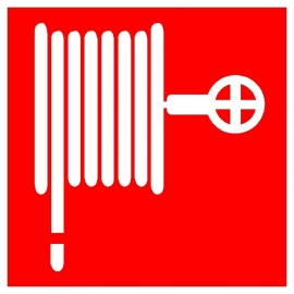 Artikelnummer BB1-P3.09 bordje brandslanghaspel (afm. 10x10cm) per st. vanaf 10 st.
