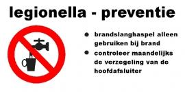 Artikelnummer TB-S1.E6 Legionella Preventie / Geen Drinkwater