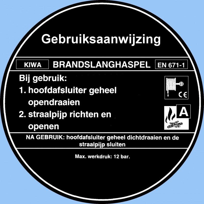 Artikelnummer A-BS.08 Gebruikersinfo Brandslanghaspel per st.
