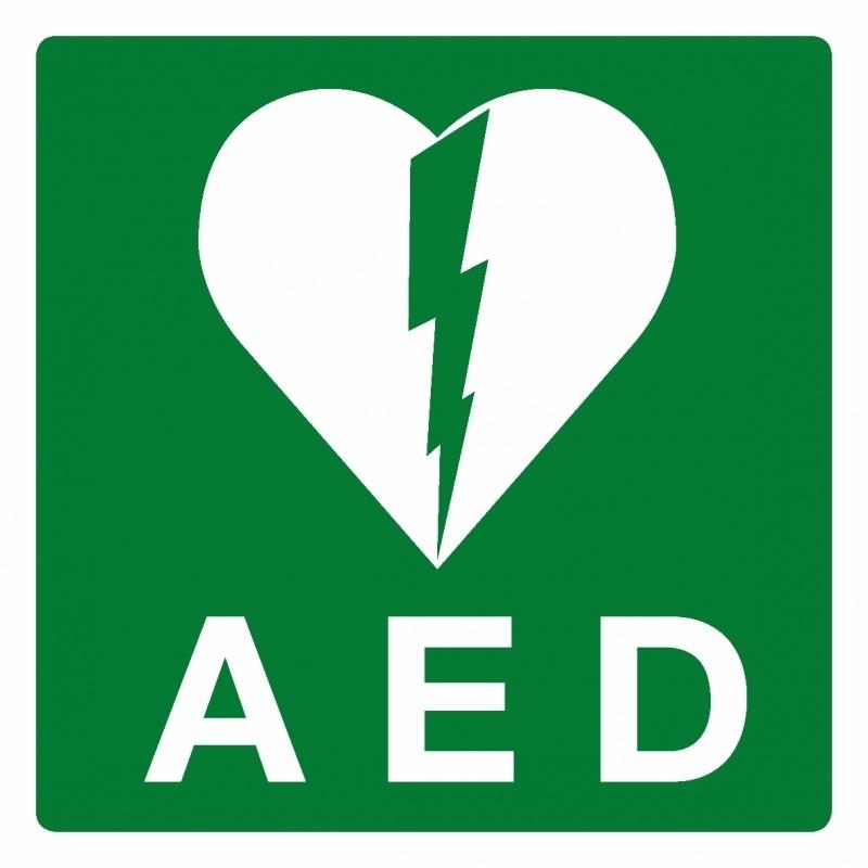 Artikelnummer RE2–V1.56 sticker AED (afm. 20x20cm) per st. vanaf 10 st.