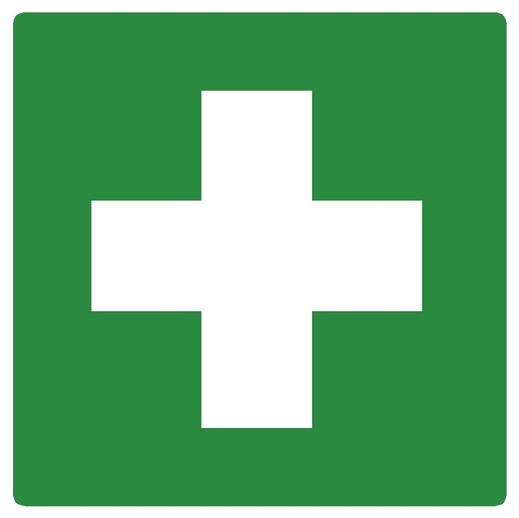 Artikelnummer RE2–V1.09 sticker Eerste Hulp (afm. 20x20cm) per st. vanaf 10 st.