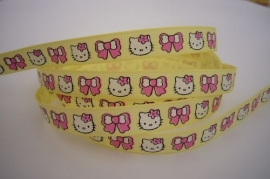 Hello Kitty band GEEL / ROZE € 0,90 p.m