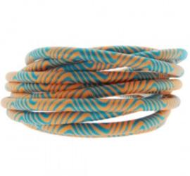 Blauw oranje. 25 cm
