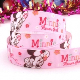 Minie Mouse roze met bloemetjes