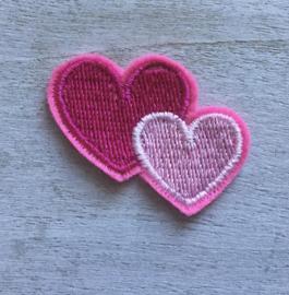 2 harten roze