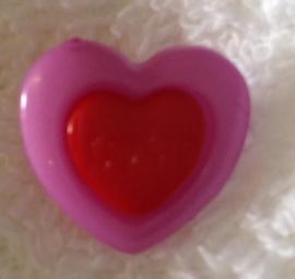 Hartje Fuchia / rood.  15 mm