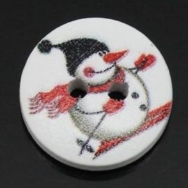Sneeuwpop op ski's