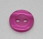 Roze transparant knoopje 11mm per stuk € 0,05