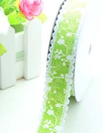 Groen wit geschulpt per meter