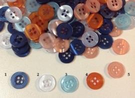 Mooi knoopje in 5 kleuren 11 mm € 0,08
