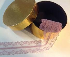 Oud roze kant 3.5 cm