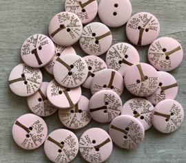 Roze hout 20 mm