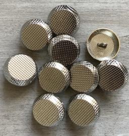 Nikkel metalen knoop 23 mm