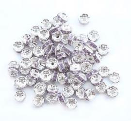 Zilver Paars. 8 mm. 10 voor