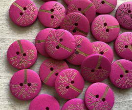 Donker roze hout 20 mm